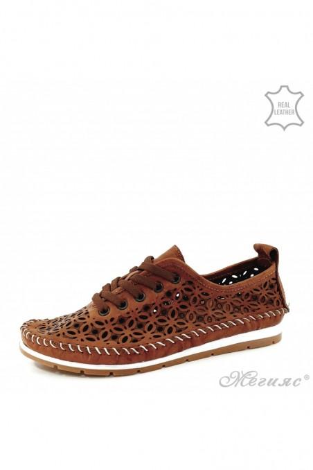 Дамски обувки от естествена кожа таба 66