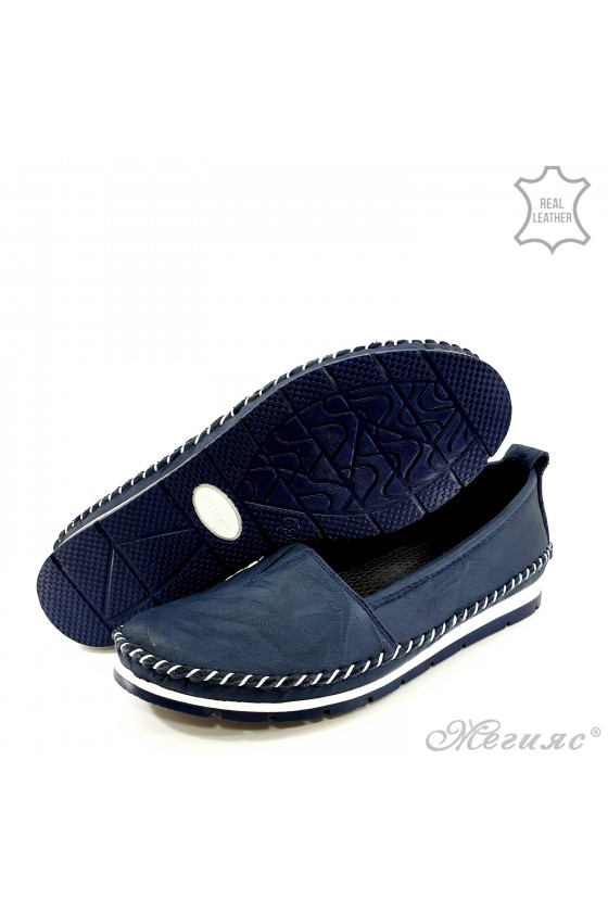 Lady shoes blue leather 63