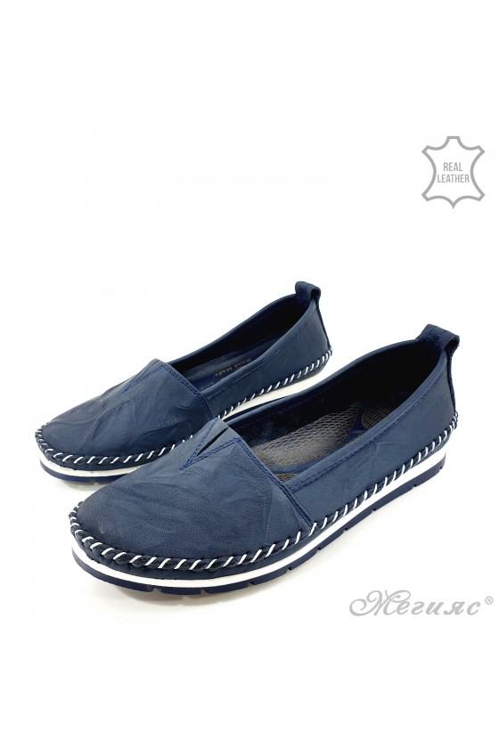 Дамски обувки от естествена кожа сини 63