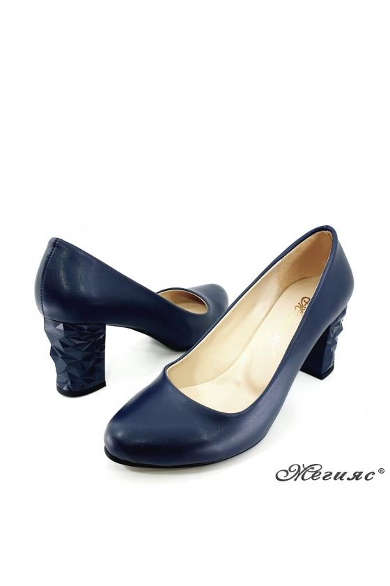991 Lady elegant shoes dk.blue pu
