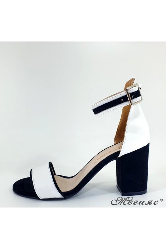 Lady sandals black+white 1010