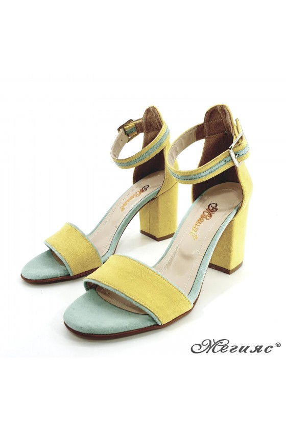Lady sandals yellow 1010
