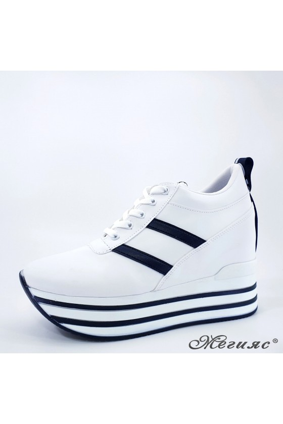 Lady shoes white with high...