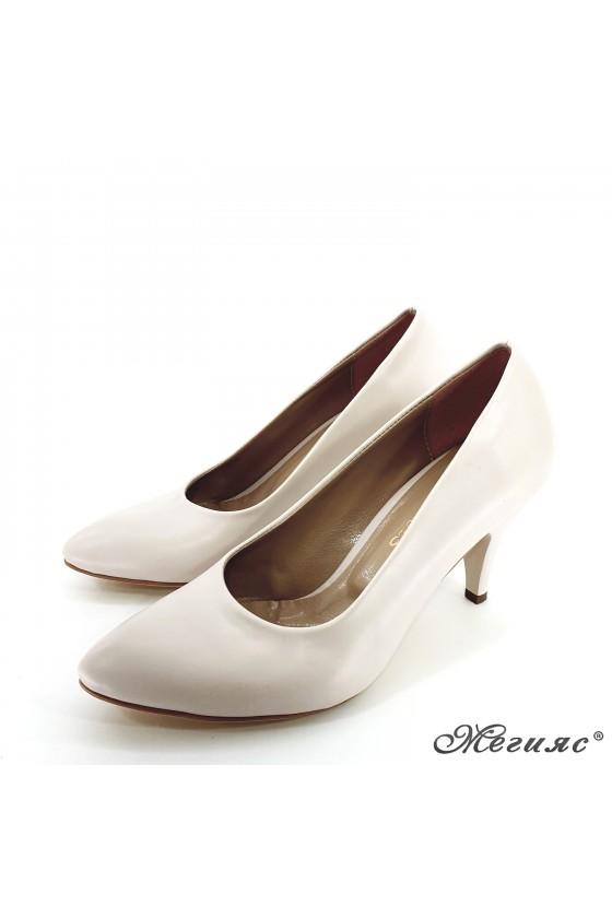 copy of Women elegant  shoes 700 beige pu middle heel