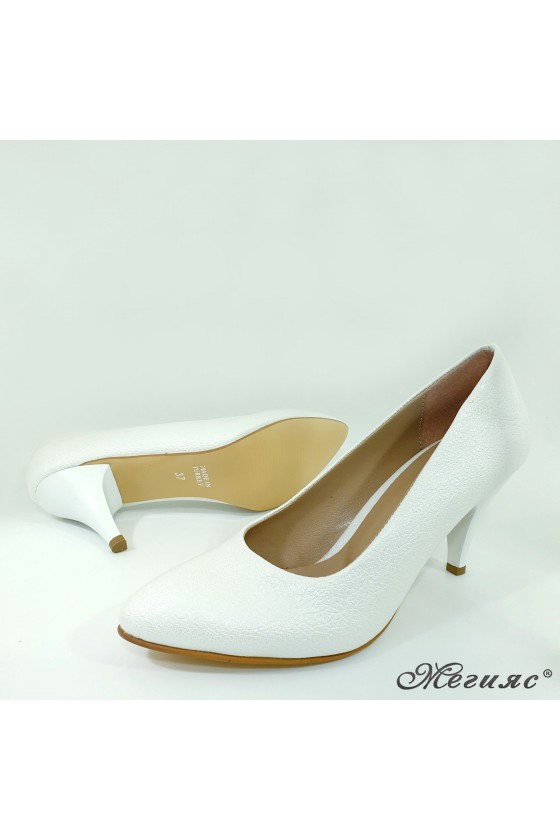 Lady shoes white pu with high heels 700