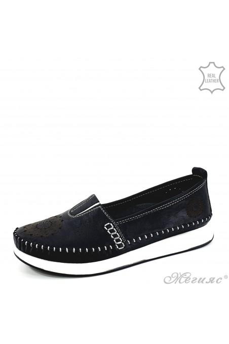 Дамски ортопедични обувки CAN от естествена кожа черни 28