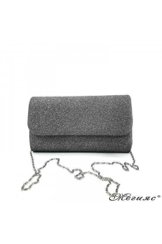 Дамска чанта от брокат графит 575