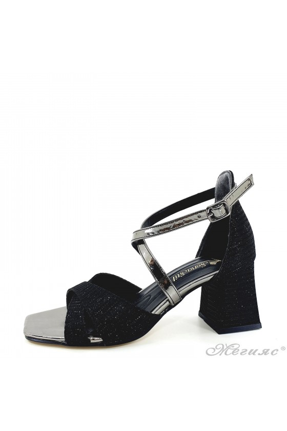 Lady black sandals with...