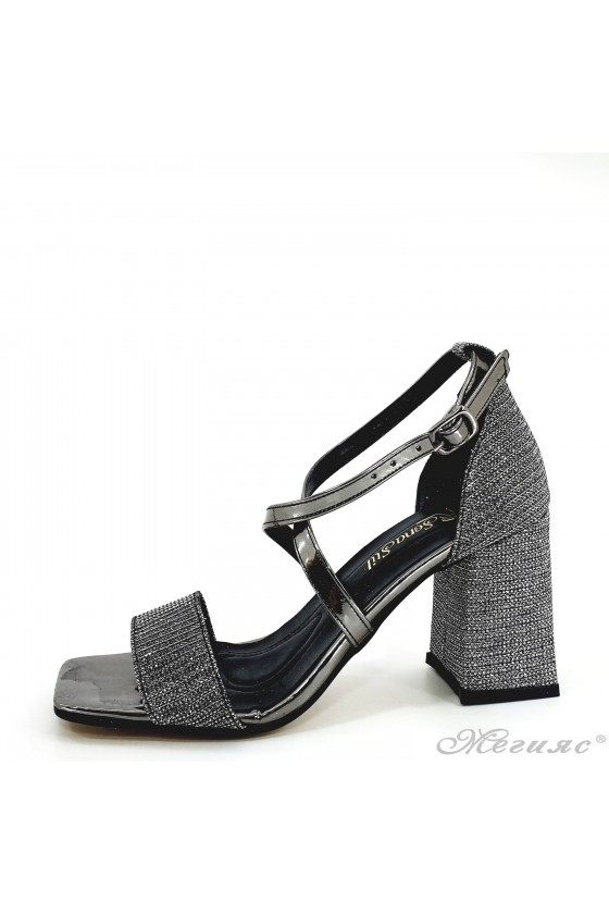 Lady dk grey sandals with...