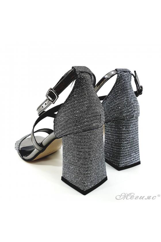 Дамски сандали елегантни графит 501-278