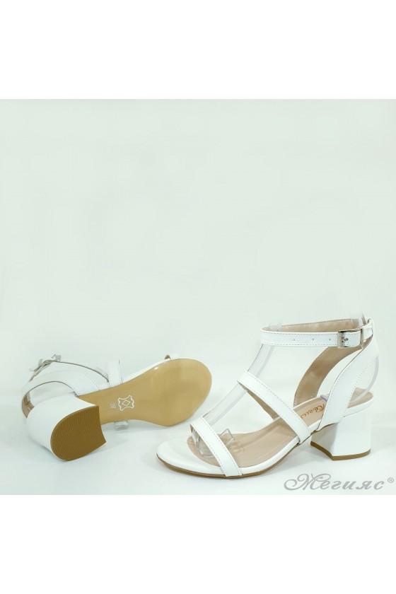 Lady sandals white pu 1022