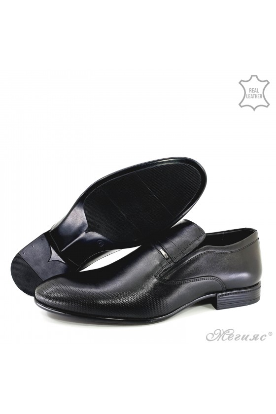copy of Men's elegant shoes 12208-57 black leather
