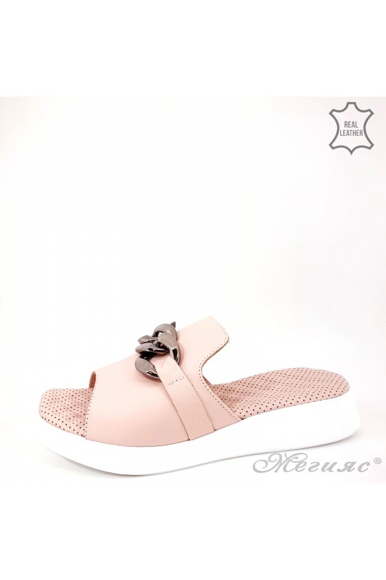 Lady flippers pink leather...