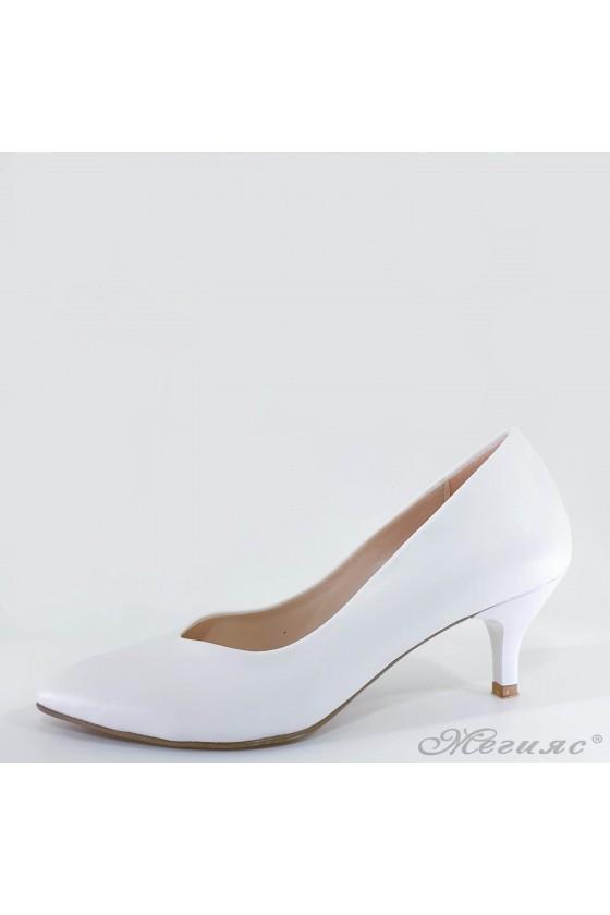 Lady shoes white pu 70