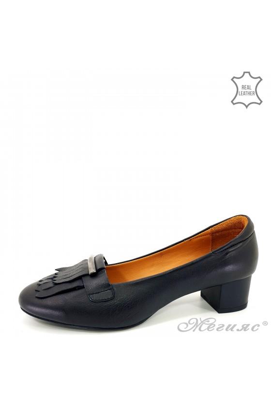 Дамски обувки на ток черни 3014
