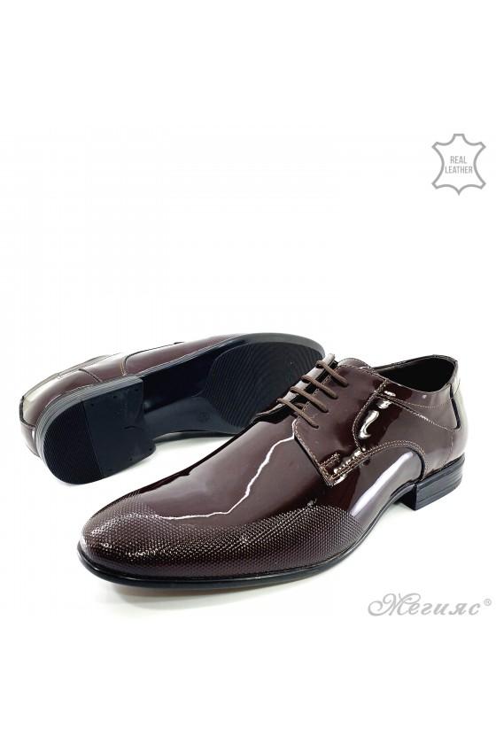 copy of Men's elegant shoes FANTAZIA 12209-57 bordo leather