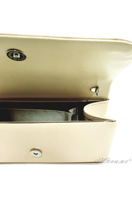 Дамска чанта от еко кожа бежова 575