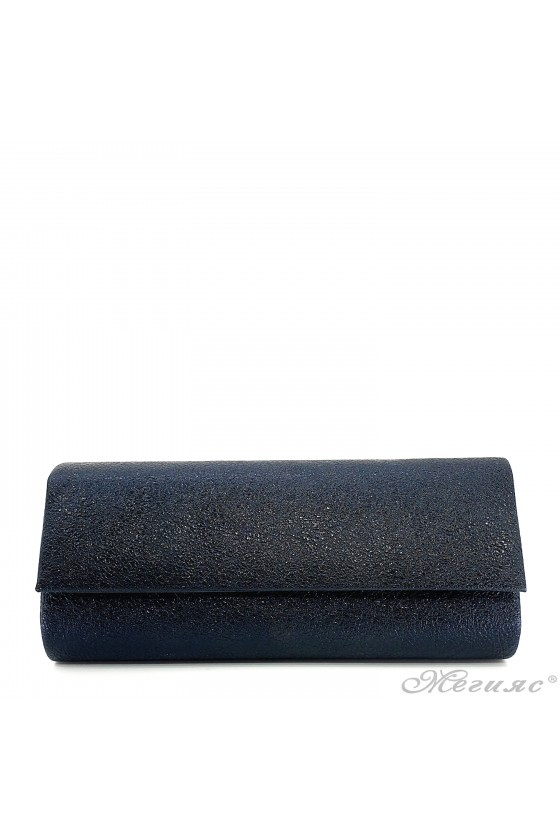 Дамска чанта от мачкана еко кожа черна 373