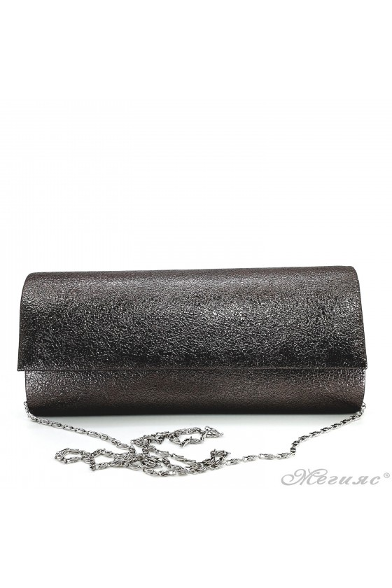 Дамска чанта от мачкана еко кожа бакър 373