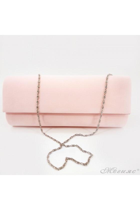 Дамска чанта от еко велур пудра 373
