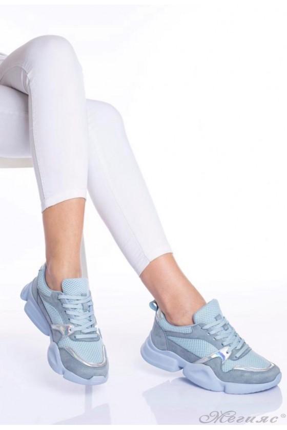 Дамски маратонки сини 5053