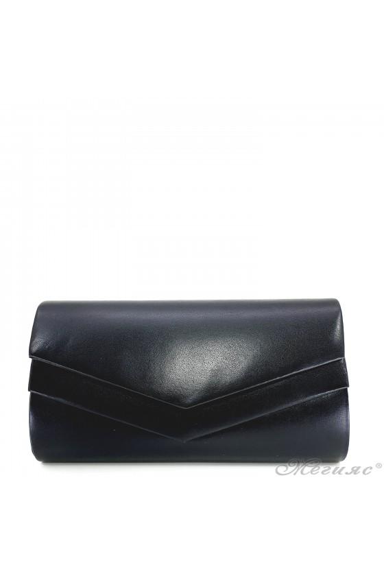 Дамска чанта черна кожа 512