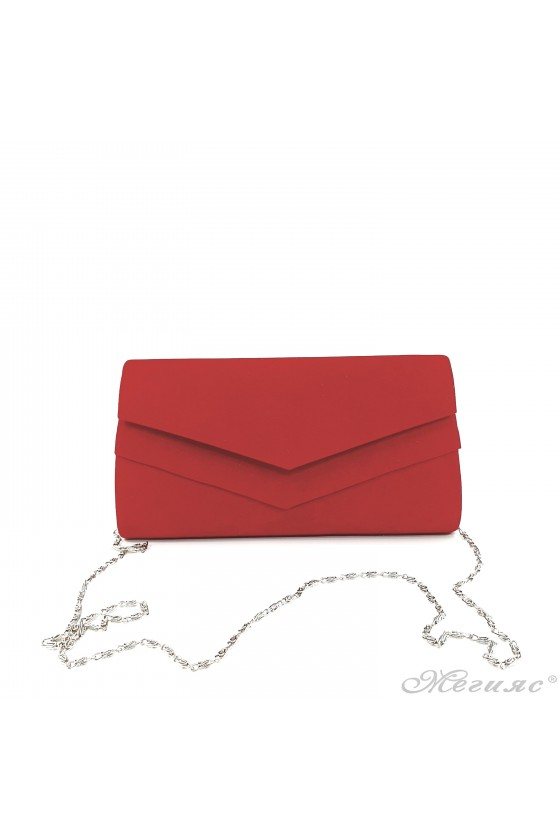 Lady bag red suede 512