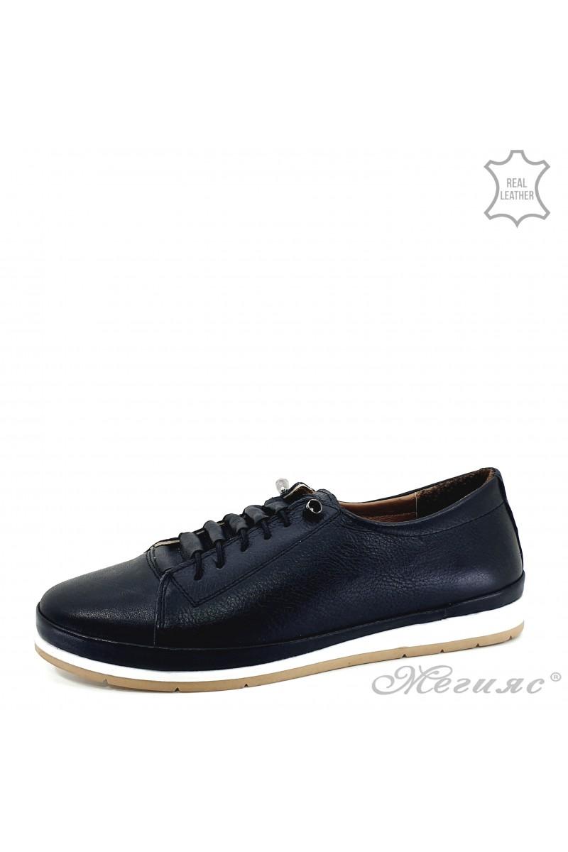 Дамски обувки естествена кожа черни 309-1