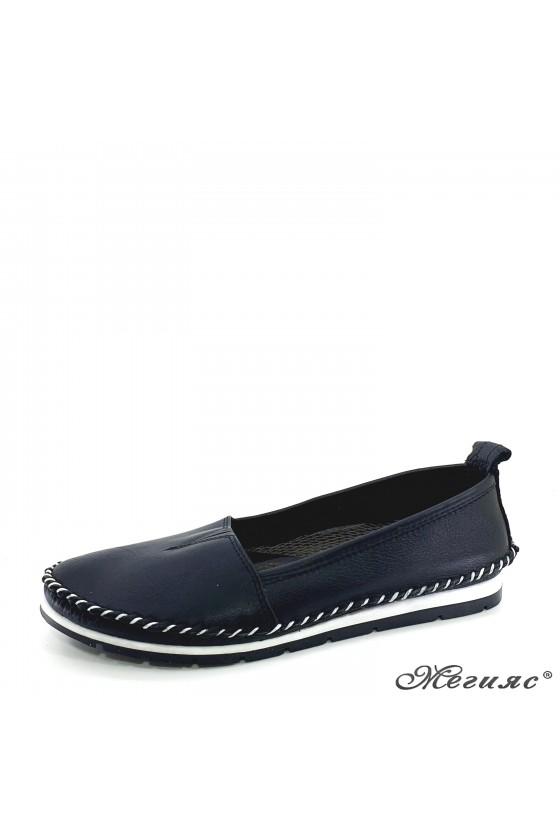 Дамски обувки големи номера CAN от естествена кожа черни 63