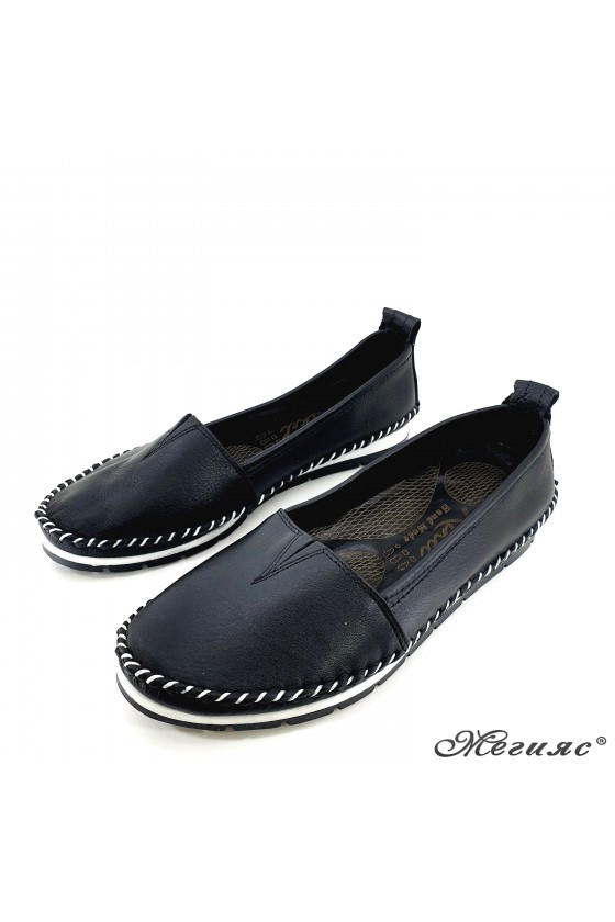 Lady shoes big size black leather 63