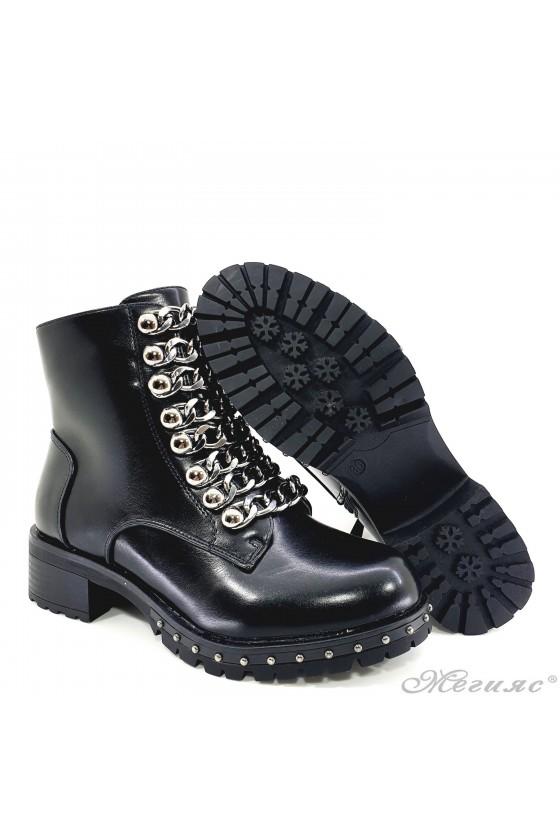 CASSIE 19-1465 Lady boots black pu