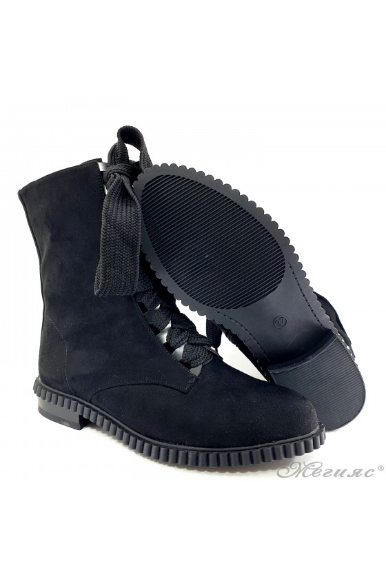 Christine 19-1406 Lady boots black suede
