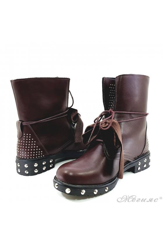 Women boots CASSIE 19-1474 wine pu