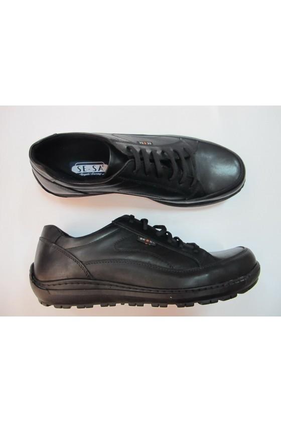 Мъжки обувки XXL 03-1 гигант черни естествена кожа