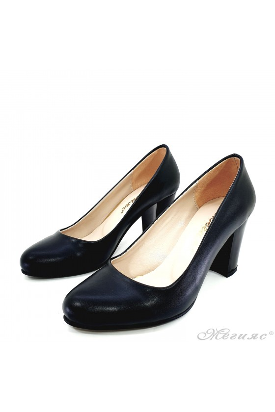 Lady shoes with heels black pu 99