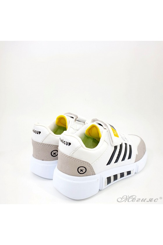 Children's shoes white and black 4455