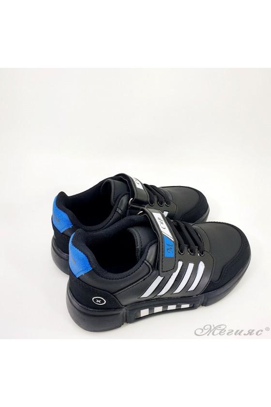 Детски маратонки черно с бяло 4455
