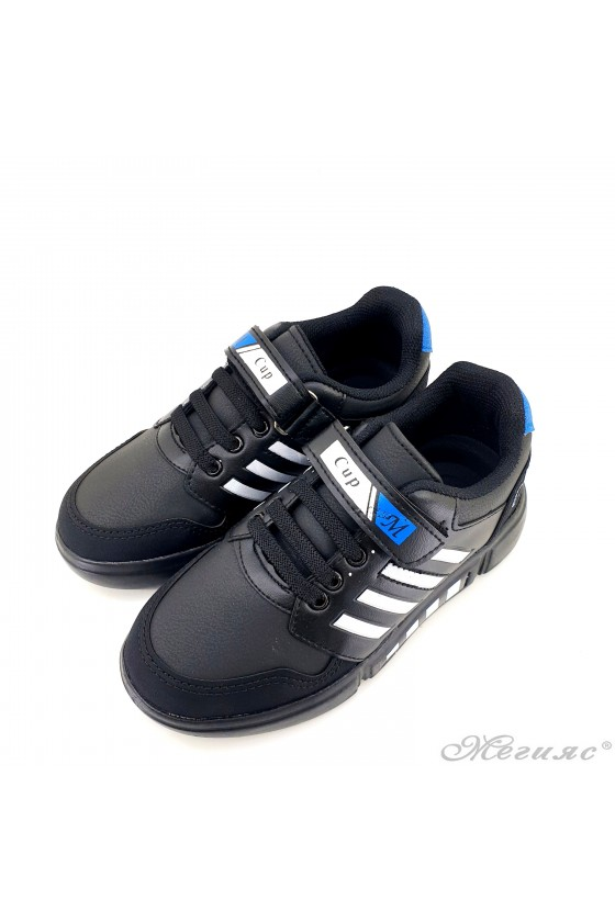 Children's shoes black and white 4455
