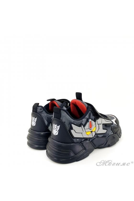 Детски маратонки черно и сиво 4457