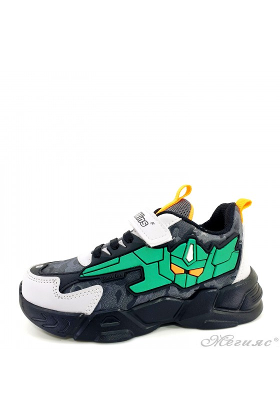 Children's shoes black and green