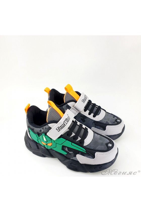 Детски маратонки черно и зелено