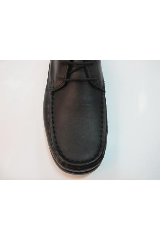 Мъжки обувки  XXL 03 гигант черни мокасини естествена кожа