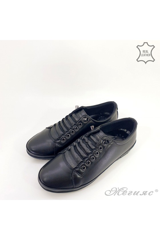 061 Lady shoes black leather