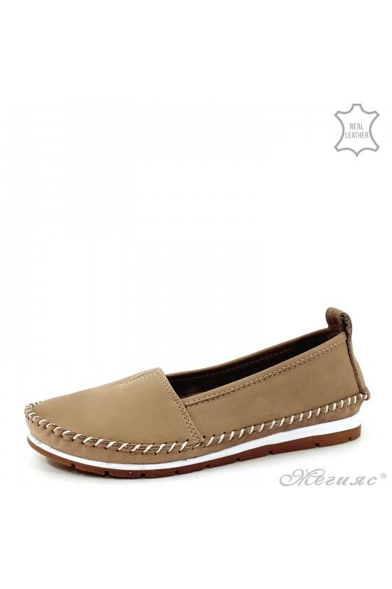 Дамски обувки естествена кожа CAN бежови 63