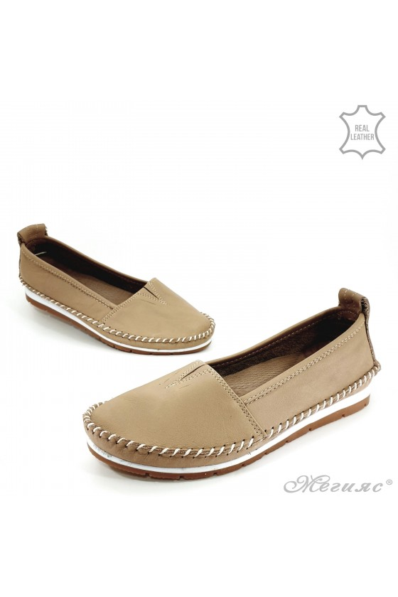 Lady shoes big size CAN beige leather 63