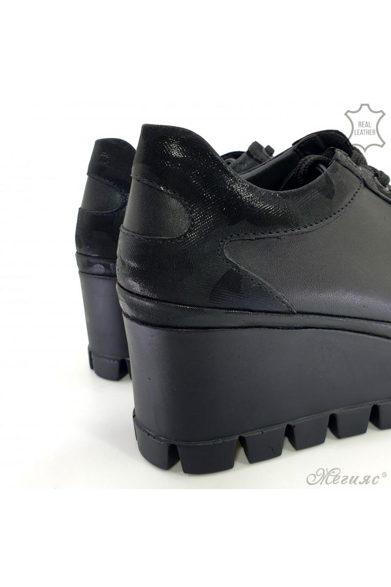 Дамски обувки на платформа естествена кожа 115-271