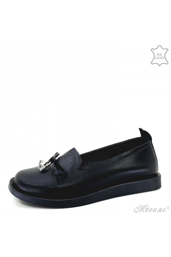 Дамски обувки естествена кожа черни 1631-01
