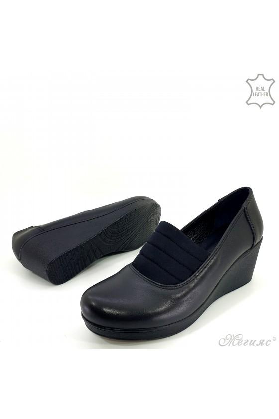 Дамски обувки на платформа естествена кожа 476-1