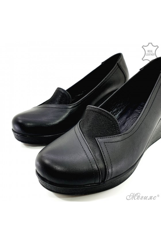Дамски обувки на платформа естествена кожа 482-1