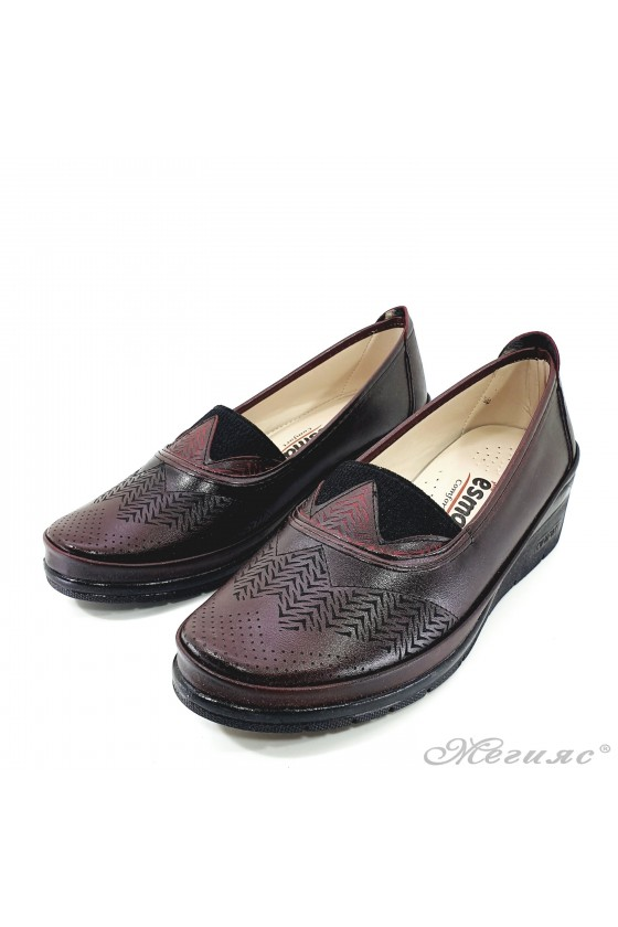 Дамски обувки на платформа бордо 305-9